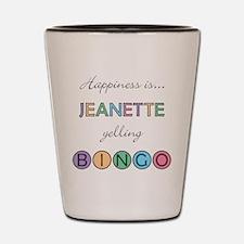 Jeanette BINGO Shot Glass