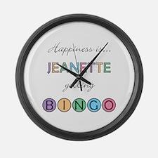 Jeanette BINGO Large Wall Clock