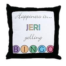 Jeri BINGO Throw Pillow