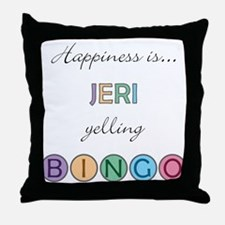 Jeri BINGO Throw Pillow