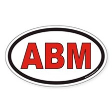 ABM Euro Oval Decal