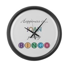 Joan BINGO Large Wall Clock