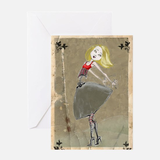 Cute Pin up nurse Greeting Card