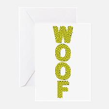 WOOF_YELLOW W/BLACK VERT MOSAIC Greeting Cards10pk