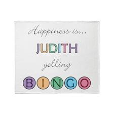 Judith BINGO Throw Blanket