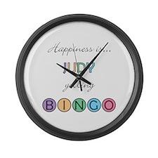 Judy BINGO Large Wall Clock