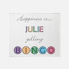 Julie BINGO Throw Blanket