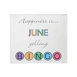 Happiness is june yelling bingo Fleece Blankets