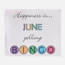 June BINGO Throw Blanket