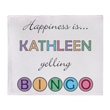 Kathleen BINGO Throw Blanket
