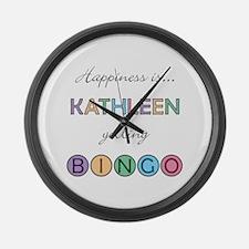 Kathleen BINGO Large Wall Clock