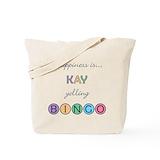 Kay bingo Canvas Bags