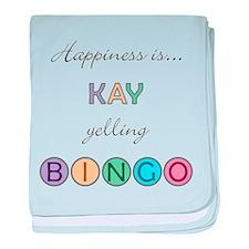Kay BINGO baby blanket