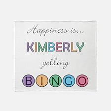 Kimberly BINGO Throw Blanket