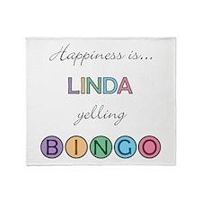 Linda BINGO Throw Blanket