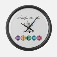 Lisa BINGO Large Wall Clock