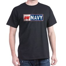 Dive Navy Black T-Shirt
