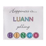Luann BINGO Throw Blanket
