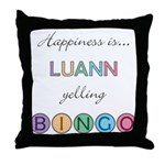 Luann BINGO Throw Pillow