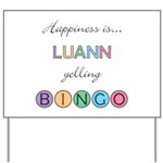 Luann BINGO Yard Sign