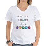 Luann BINGO Women's V-Neck T-Shirt
