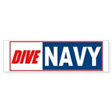 Dive Navy Bumper Bumper Sticker