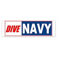 Dive Navy Bumper Bumper Sticker