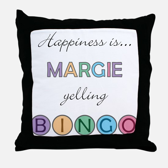 Margie BINGO Throw Pillow