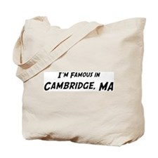 Famous in Cambridge Tote Bag