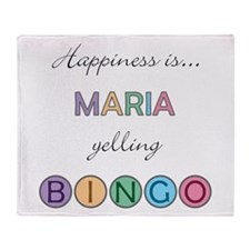 Maria BINGO Throw Blanket