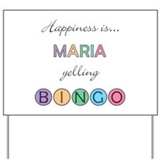 Maria BINGO Yard Sign