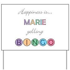 Marie BINGO Yard Sign