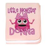 Little Monster Donna baby blanket
