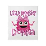 Little Monster Donna Throw Blanket