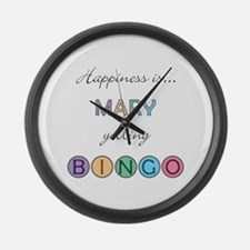 Mary BINGO Large Wall Clock