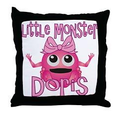 Little Monster Doris Throw Pillow