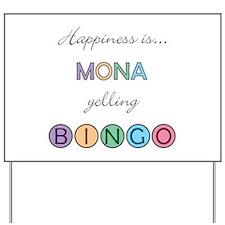Mona BINGO Yard Sign