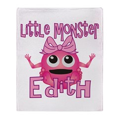 Little Monster Edith Throw Blanket