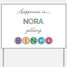 Nora BINGO Yard Sign