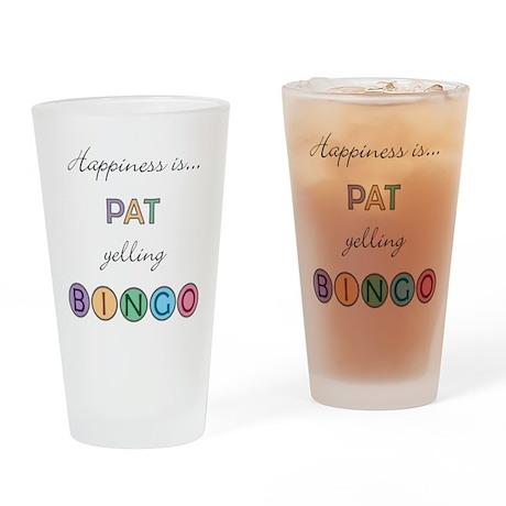 Pat BINGO Drinking Glass