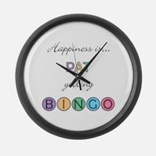 Pat BINGO Large Wall Clock