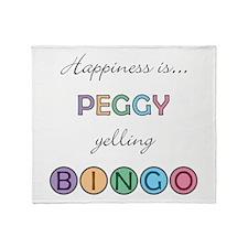 Peggy BINGO Throw Blanket