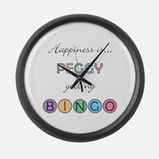 Peggy BINGO Large Wall Clock
