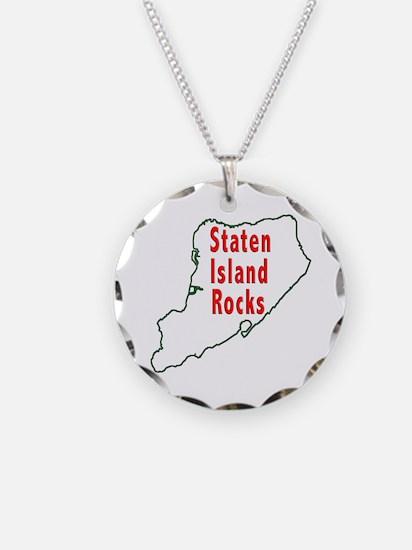 Staten Island Rocks Necklace Circle Charm