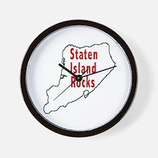 Staten Island Rocks Wall Clock