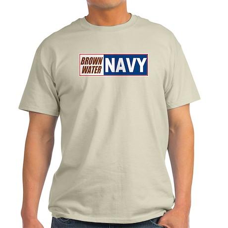Brown Water Navy Ash Grey T-Shirt