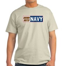 Brown Water Navy Ash Grey T-Shirt