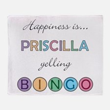 Priscilla BINGO Throw Blanket