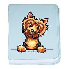 Norwich Terrier Line Art baby blanket
