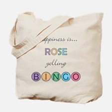 Rose BINGO Tote Bag